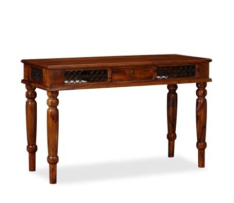 vidaXL Writing Table Solid Sheesham Wood 120x50x76 cm[13/13]