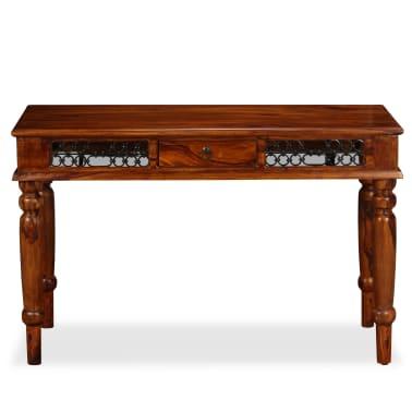 vidaXL Writing Table Solid Sheesham Wood 120x50x76 cm[2/13]
