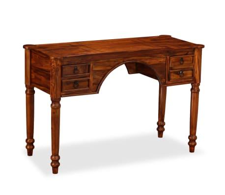 vidaXL Rašomasis stalas, rausvosios dalbergijos mediena, 115x50x76cm[3/12]