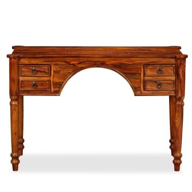 vidaXL Rašomasis stalas, rausvosios dalbergijos mediena, 115x50x76cm[2/12]