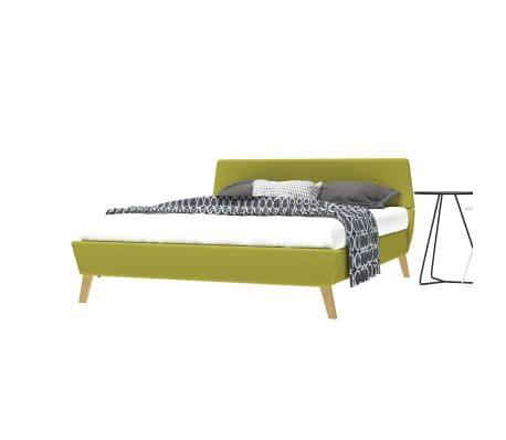 vidaXL Cadre de lit Vert Tissu 140 x 200 cm[3/10]