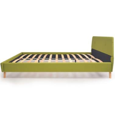 vidaXL Cadre de lit Vert Tissu 140 x 200 cm[8/10]