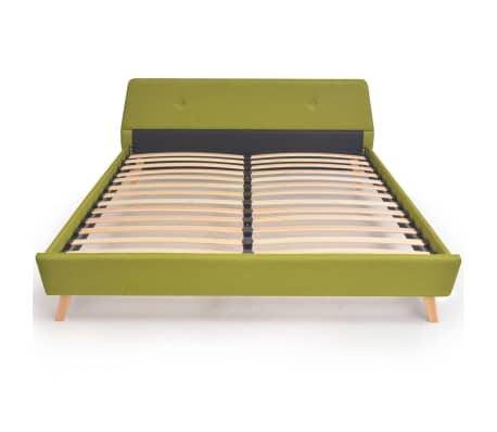vidaXL Lovos rėmas, žalios sp., 160x200 cm, audinys[3/10]