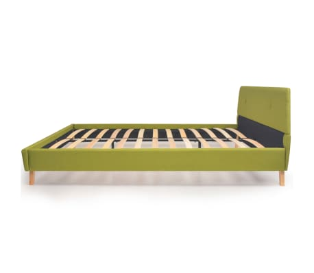 vidaXL Lovos rėmas, žalios sp., 160x200 cm, audinys[4/10]