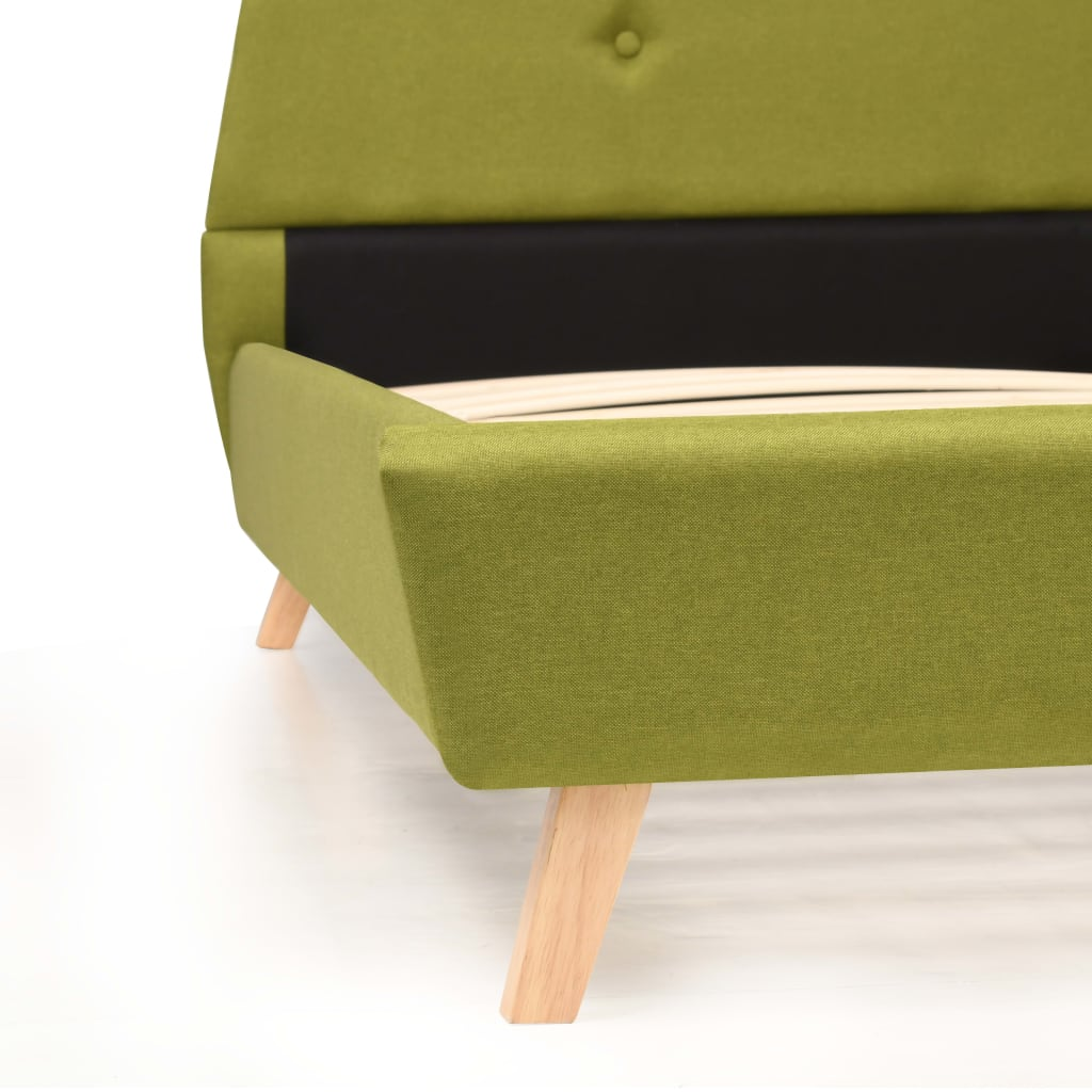 b800f3dbe25 vidaXL liistudest põhjaga voodiraam, kangast, 180 x 200 cm, roheline