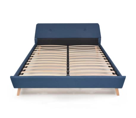 vidaXL Lovos rėmas, mėlynos sp., 140x200 cm, audinys[3/10]