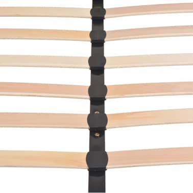 vidaXL Lovos rėmas, mėlynos sp., 140x200 cm, audinys[9/10]