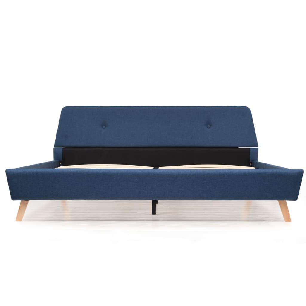 cbc6d4d4176 vidaXL liistudest põhjaga voodiraam, kangast, 160 x 200 cm, sinine