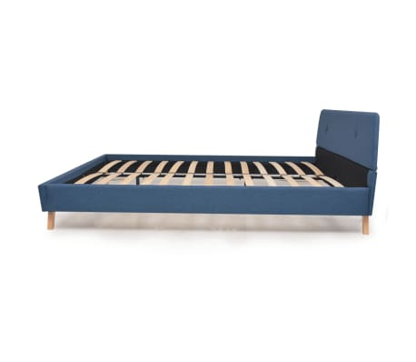 vidaXL Lovos rėmas, mėlynos sp., 160x200 cm, audinys[4/10]