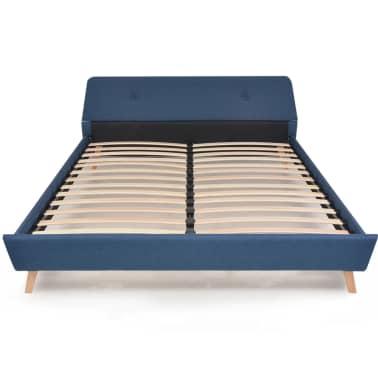 vidaXL Lovos rėmas, mėlynos sp., 160x200 cm, audinys[3/10]