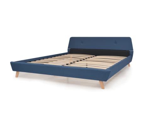 vidaXL Cadru de pat, albastru, 180 x 200 cm, material textil