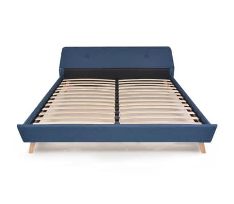 vidaXL Cadre de lit Bleu Tissu 180 x 200 cm[3/10]