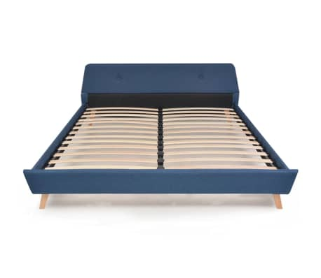 vidaXL Lovos rėmas, mėlynos sp., 180x200 cm, audinys[3/10]