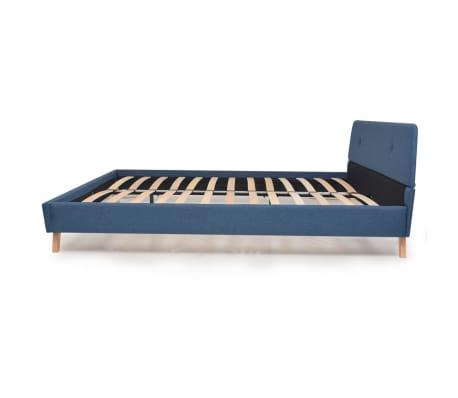 vidaXL Cadre de lit Bleu Tissu 180 x 200 cm[4/10]