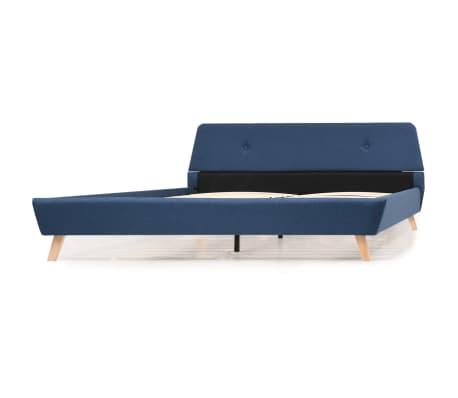 vidaXL Cadre de lit Bleu Tissu 180 x 200 cm[5/10]
