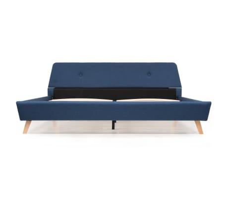 vidaXL Cadre de lit Bleu Tissu 180 x 200 cm[6/10]