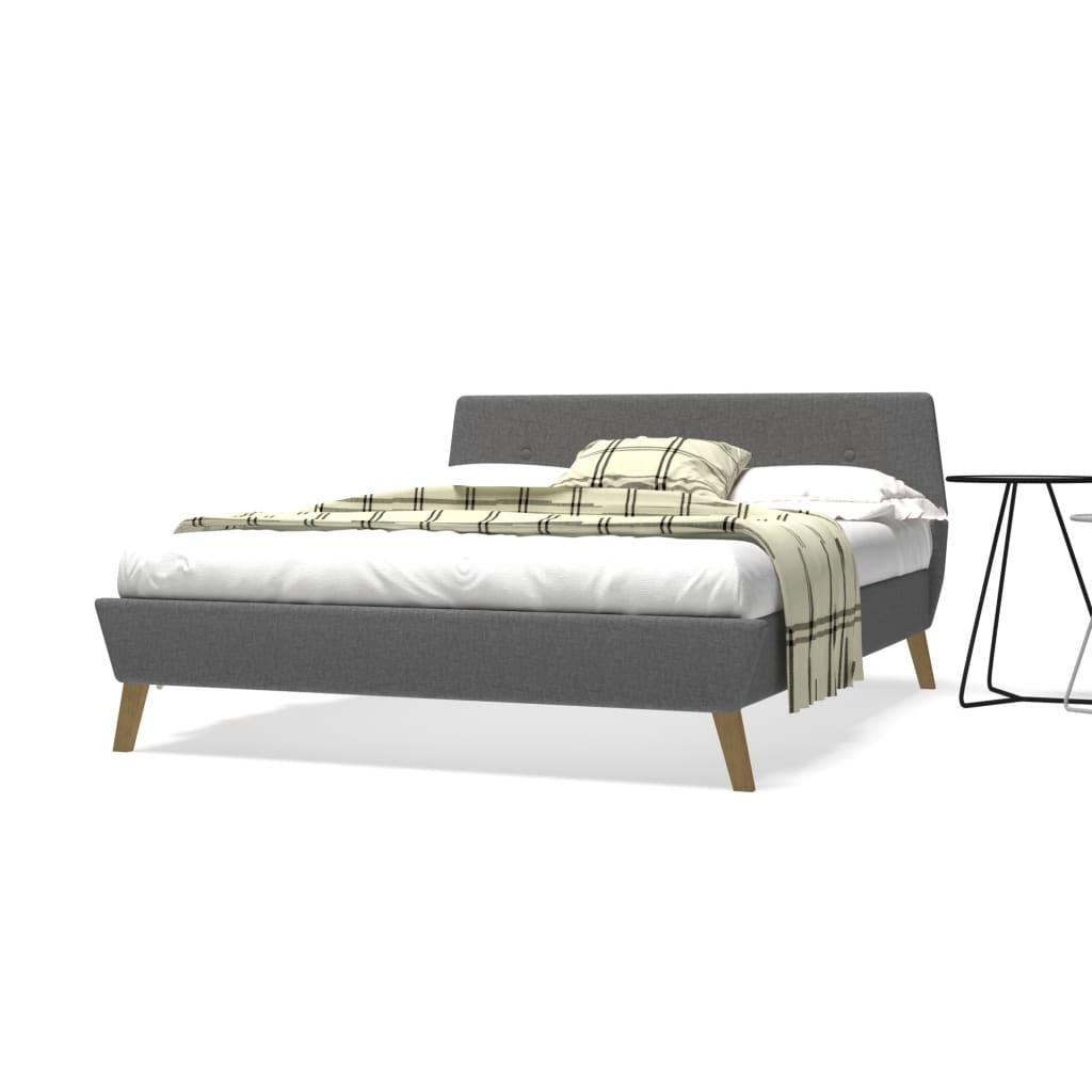 vidaXL Πλαίσιο Κρεβατιού με Σανίδες Ανοιχτό Γκρι 140x200εκ. Υφασμάτινο
