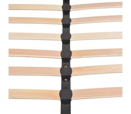 vidaXL Cadre de lit Gris clair Tissu 180 x 200 cm[9/10]