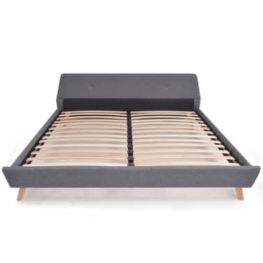 vidaXL Cadre de lit Gris clair Tissu 180 x 200 cm[3/10]