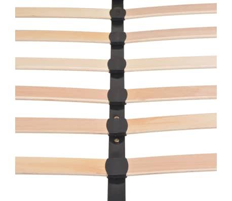 vidaXL Cadre de lit Gris foncé Tissu 140 x 200 cm[9/10]