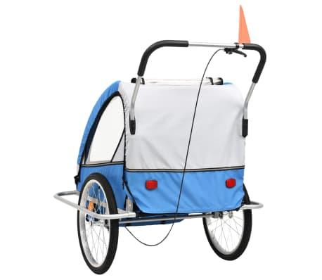 vidaxl 2 in 1 kinder fahrradanh nger kinderwagen blau. Black Bedroom Furniture Sets. Home Design Ideas