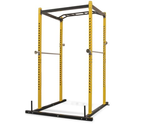 vidaXL Fitness Power Rack 140x145x214 cm Yellow and Black