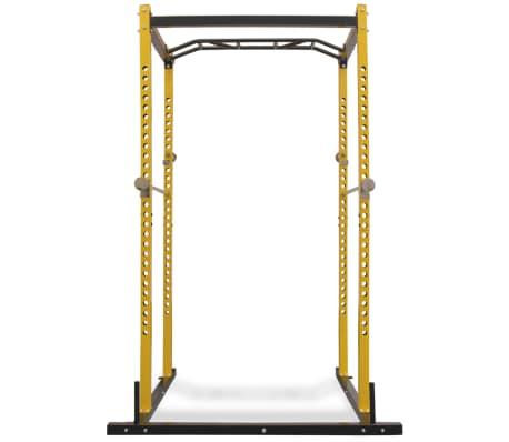 vidaXL Rack de musculation fitness 140 x 145 x 214 cm jaune et noir[2/7]