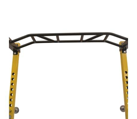 vidaXL Rack de musculation fitness 140 x 145 x 214 cm jaune et noir[3/7]