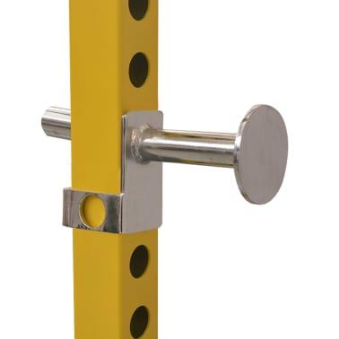 vidaXL Rack de musculation fitness 140 x 145 x 214 cm jaune et noir[4/7]