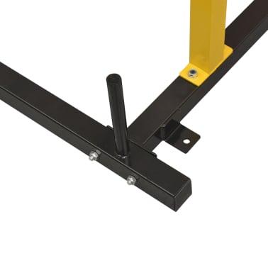 vidaXL Rack de musculation fitness 140 x 145 x 214 cm jaune et noir[5/7]