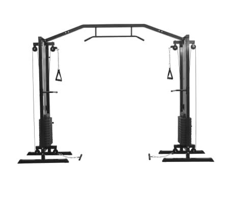 vidaXL Centre d'entraînement à câbles 315 cm Noir[2/10]