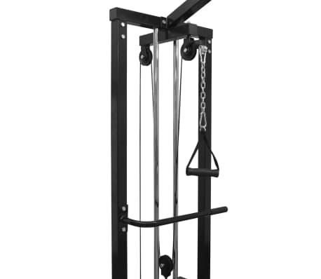 vidaXL Centre d'entraînement à câbles 315 cm Noir[3/10]