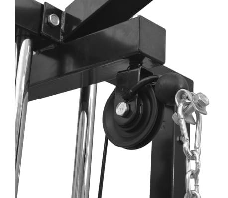 vidaXL Centre d'entraînement à câbles 315 cm Noir[4/10]