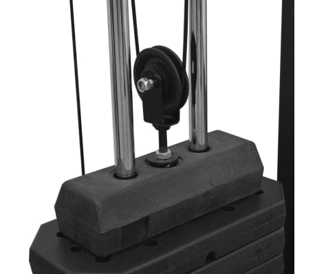 vidaXL Centre d'entraînement à câbles 315 cm Noir[5/10]