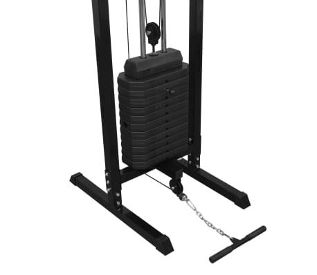 vidaXL Centre d'entraînement à câbles 315 cm Noir[6/10]