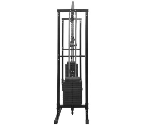 vidaXL Centre d'entraînement à câbles 315 cm Noir[7/10]