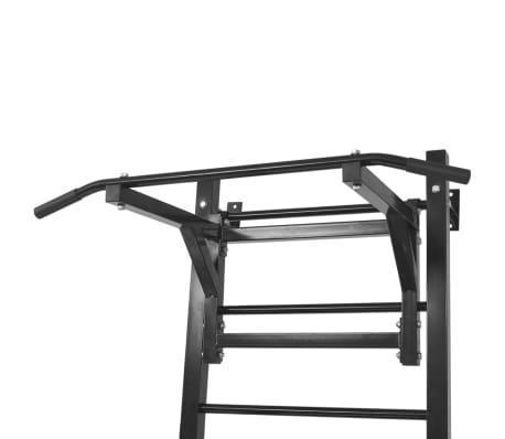 vidaXL Turn Fitness multifuncțional de perete, negru[5/8]