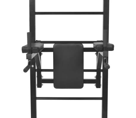 vidaXL Turn Fitness multifuncțional de perete, negru[6/8]