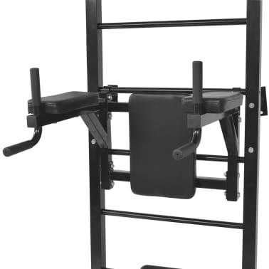 vidaXL Turn Fitness multifuncțional de perete, negru[4/8]