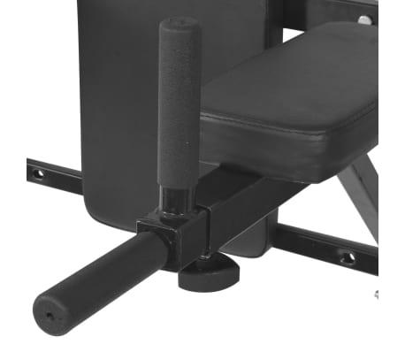 vidaXL Fitness-Dipstation zur Wandmontage Schwarz[4/7]