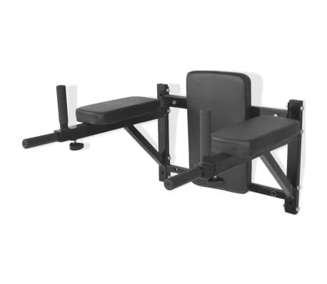 acheter vidaxl station de fitness murale noire pas cher. Black Bedroom Furniture Sets. Home Design Ideas