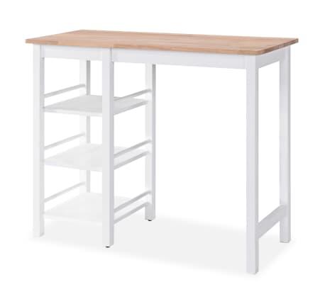 vidaXL Baro baldų rinkinys, 3 dalių, medienos plokštė (MDF), baltas[3/9]