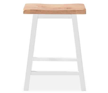 vidaXL Baro baldų rinkinys, 3 dalių, medienos plokštė (MDF), baltas[6/9]