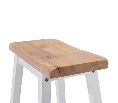 vidaXL Baro baldų rinkinys, 3 dalių, medienos plokštė (MDF), baltas[7/9]