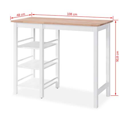 vidaXL Baro baldų rinkinys, 3 dalių, medienos plokštė (MDF), baltas[8/9]