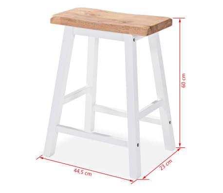vidaXL Baro baldų rinkinys, 3 dalių, medienos plokštė (MDF), baltas[9/9]