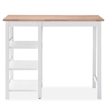 vidaXL Baro baldų rinkinys, 3 dalių, medienos plokštė (MDF), baltas[4/9]