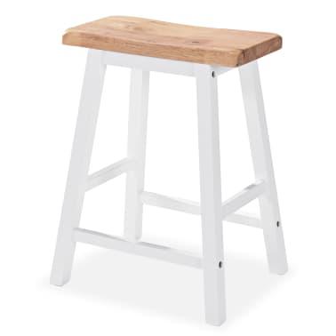 vidaXL Baro baldų rinkinys, 3 dalių, medienos plokštė (MDF), baltas[5/9]