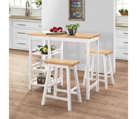 vidaXL Baro baldų rinkinys, 3 dalių, medienos plokštė (MDF), baltas[1/9]
