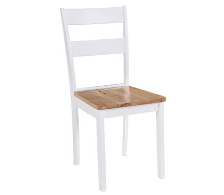 vidaXL Chaises de salle à manger 4 pcs Blanc Bois d'hévéa massif[2/6]